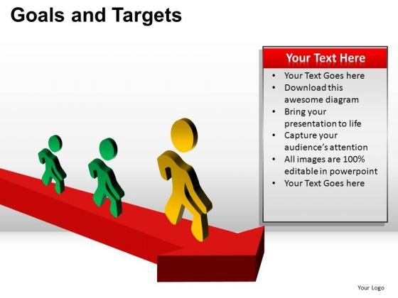 PowerPoint Designs Strategy Goals And Targets Ppt Slides