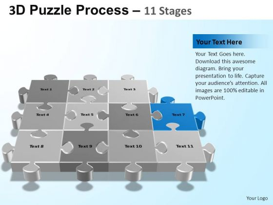 PowerPoint Designs Strategy Puzzle Process Ppt Design