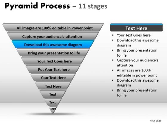 PowerPoint Designs Strategy Pyramid Process Ppt Presentation