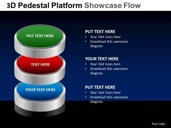 PowerPoint Designs Success Pedestal Platform Showcase Ppt Slides