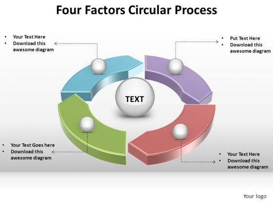 PowerPoint Designs Teamwork Circular Process Ppt Backgrounds