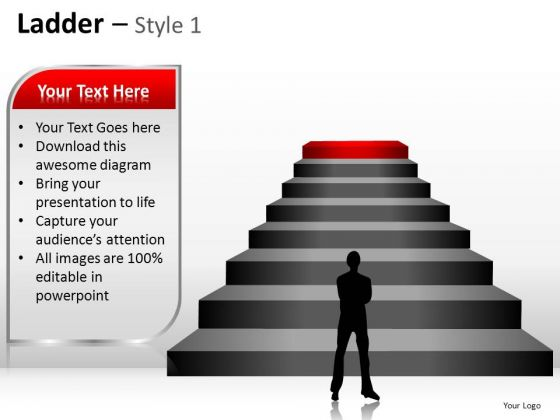 PowerPoint Designs Teamwork Ladder Ppt Layout