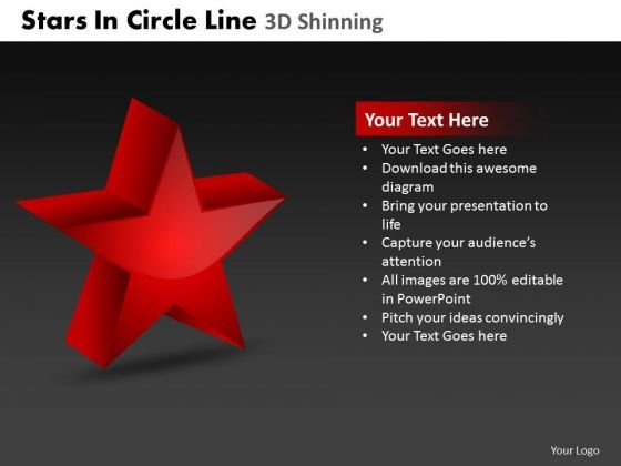 PowerPoint Designs Teamwork Stars In Circle Ppt Slides