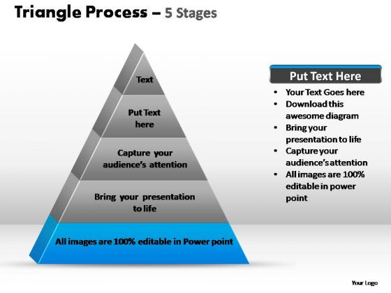 PowerPoint Designs Teamwork Triangle Process Ppt Theme