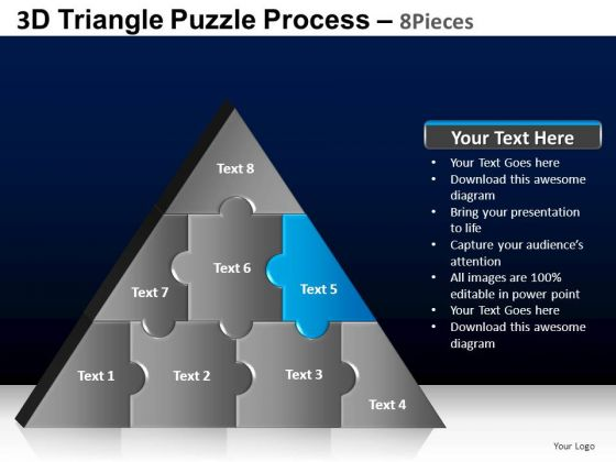 PowerPoint Designs Teamwork Triangle Puzzle Ppt Templates