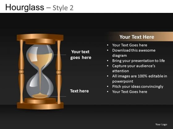 PowerPoint Diagram Of An Hourglass Editable Slides