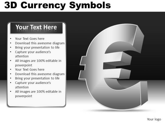 PowerPoint Euro Currency Symbok