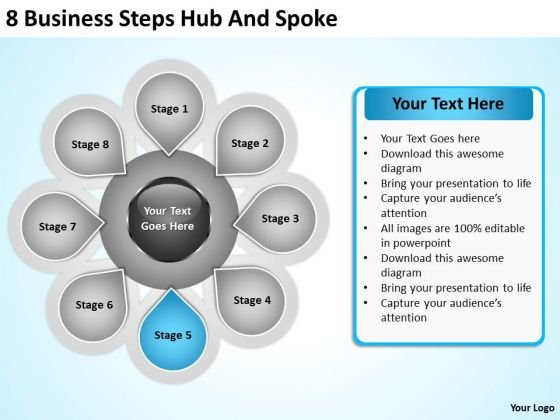 PowerPoint For Business Presentation Steps Hub And Spoke Ppt 6 Slides
