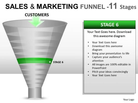 PowerPoint Funnel Chart Diagram For Ppt Slides