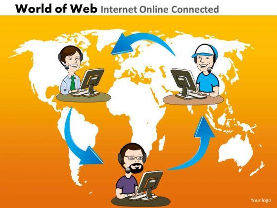 PowerPoint Global Internet Teams Ppt Slide Designs