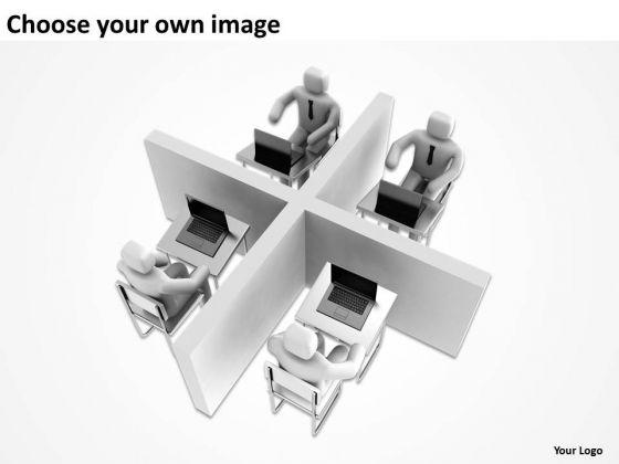 PowerPoint Graphics Business 3d Blue Men Communication Slides