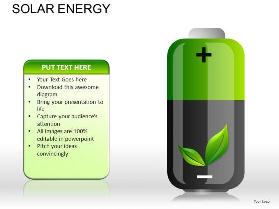PowerPoint Graphics Clipart Green Energy Batteries Ppt Slides