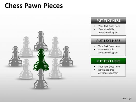 PowerPoint Graphics Leader Chess Ppt Slides