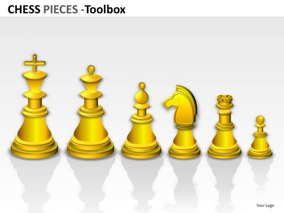 PowerPoint Graphics Showing Teamwork Leadership With Chess Pieces