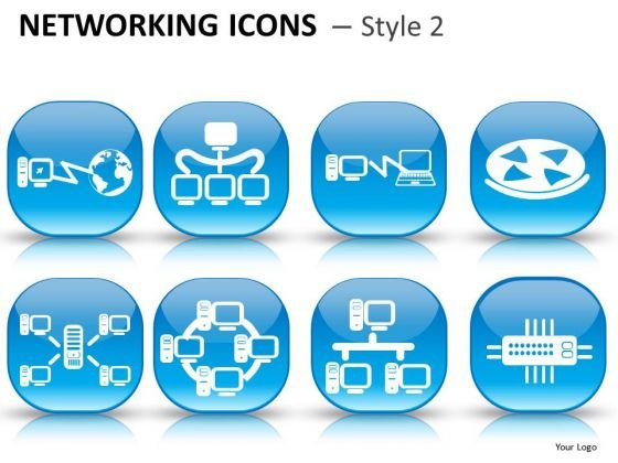 PowerPoint Graphics With Computer Network Ppt Clipart Slides