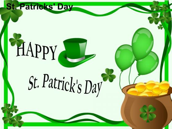 PowerPoint Happy Patricks Day Ppt Backgrounds