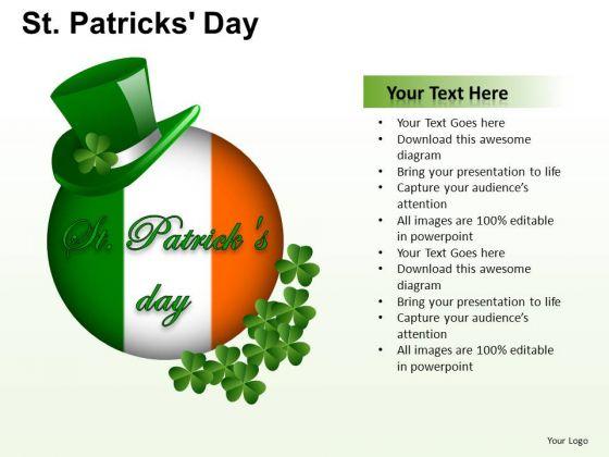 PowerPoint Ireland Flag Patricks Day Ppt Layout