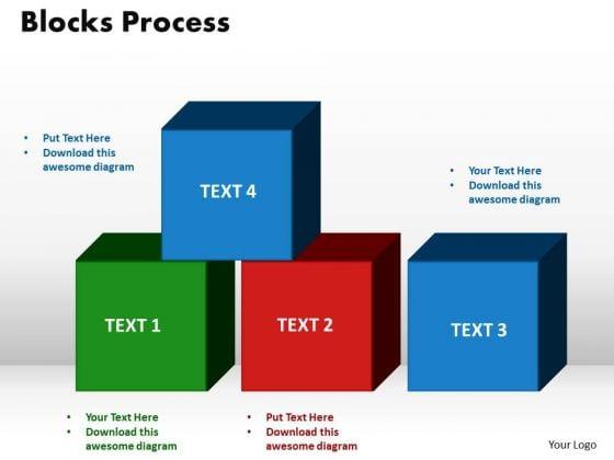 PowerPoint Layout Blocks Process Strategy Ppt Presentation