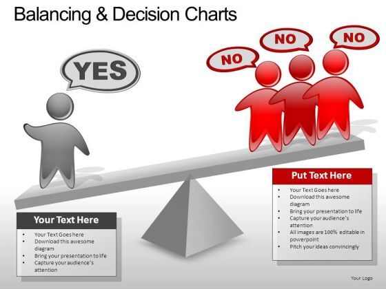 PowerPoint Layout Business Balancing Decision Ppt Slide
