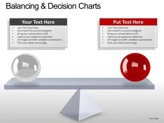 PowerPoint Layout Business Balancing Decision Ppt Slides