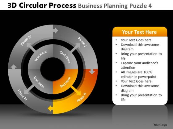 PowerPoint Layout Business Leadership 3d Cycle Chart Process Ppt Presentation Designs