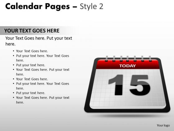 PowerPoint Layout Calendar 15 Today Education Ppt Slides
