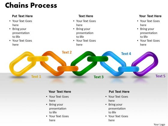 PowerPoint Layout Chains Process Diagram Ppt Backgrounds