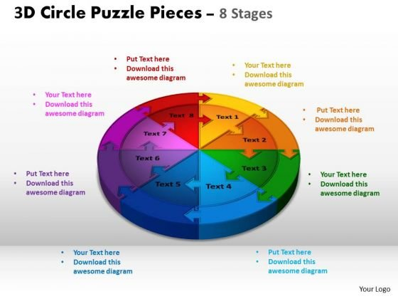 PowerPoint Layout Chart Circle Puzzle Ppt Template