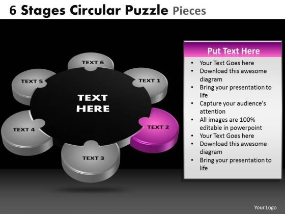 PowerPoint Layout Chart Circular Puzzle Ppt Layout