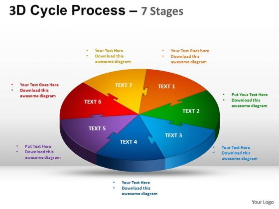 PowerPoint Layout Chart Cycle Process Flow Ppt Design Slides
