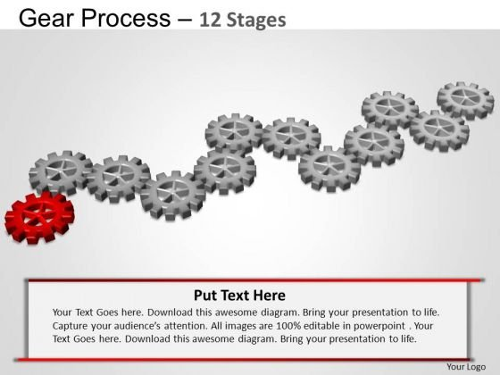 PowerPoint Layout Chart Gears Process Ppt Theme