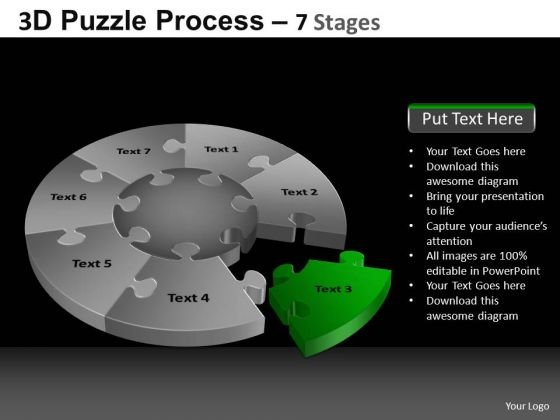 PowerPoint Layout Chart Pie Chart Puzzle Process Ppt Themes