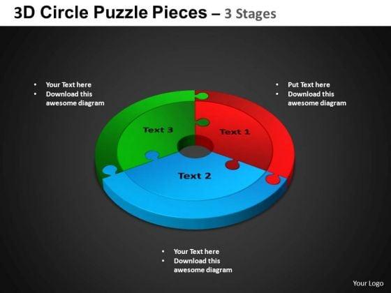 PowerPoint Layout Circle Chart Circle Puzzle Diagram Ppt Slides