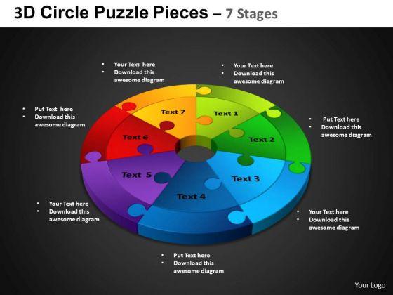 PowerPoint Layout Circle Process Circle Puzzle Diagram Ppt Design Slides