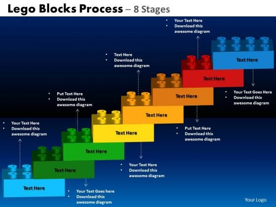 PowerPoint Layout Circle Process Lego Blocks Ppt Design Slides