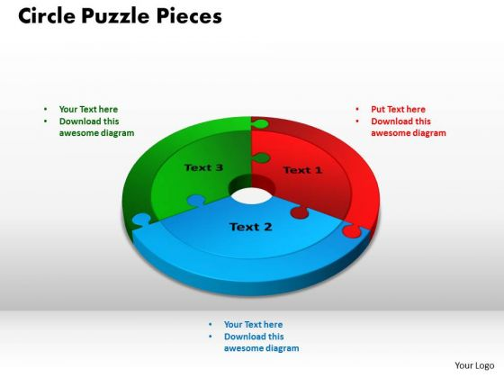 PowerPoint Layout Circle Puzzle Pieces Business Ppt Slides