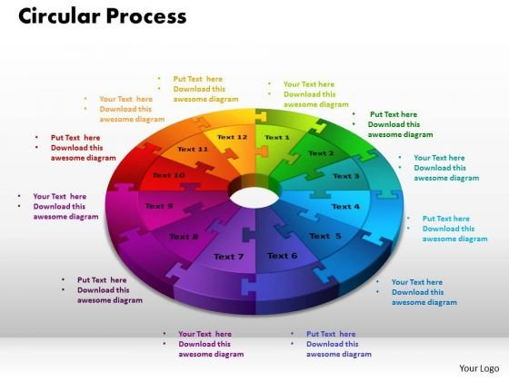 PowerPoint Layout Circular Process Chart Ppt Backgrounds