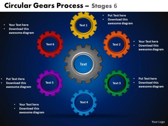 PowerPoint Layout Circular Process Circular Gears Ppt Presentation Designs