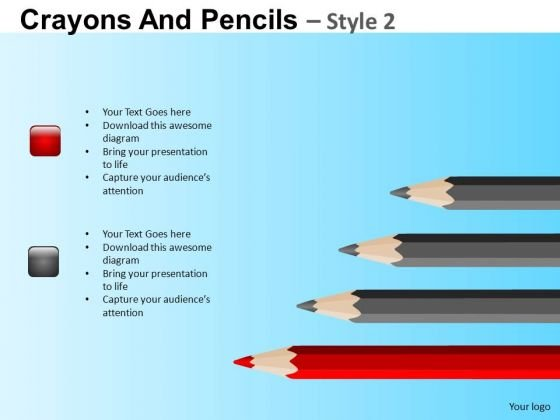 PowerPoint Layout Color Pencils List Crayons Ppt Slides