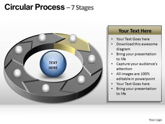 PowerPoint Layout Company Circular Process Ppt Slide
