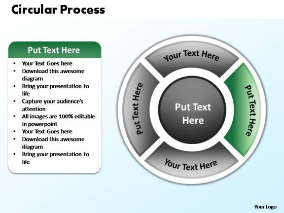 PowerPoint Layout Company Circular Process Ppt Template