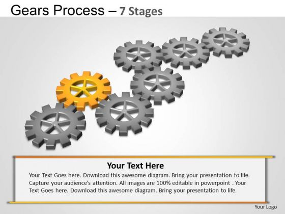 PowerPoint Layout Company Gears Process Ppt Template