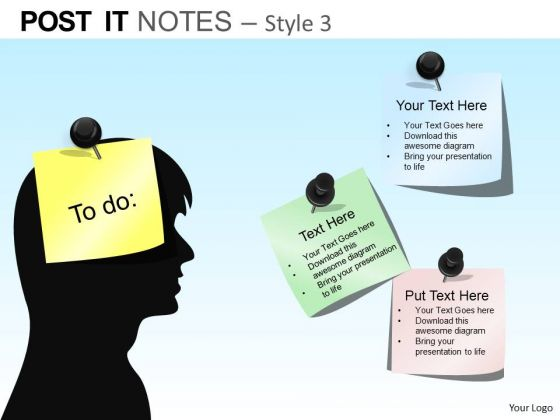 PowerPoint Layout Company Growth Post It Notes Ppt Theme
