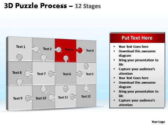 PowerPoint Layout Company Puzzle Process Ppt Design Slides