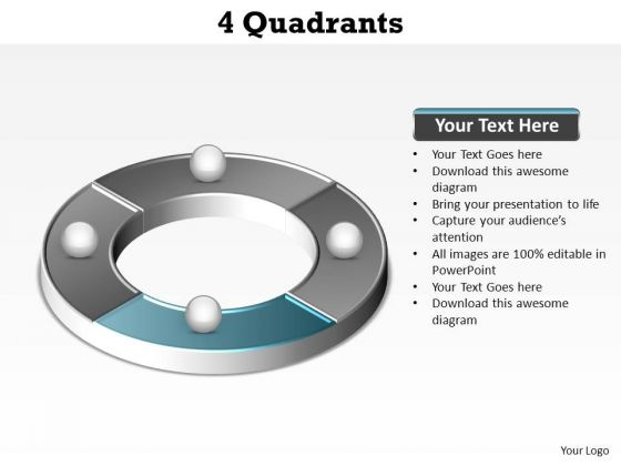 PowerPoint Layout Company Quadrants Ppt Template