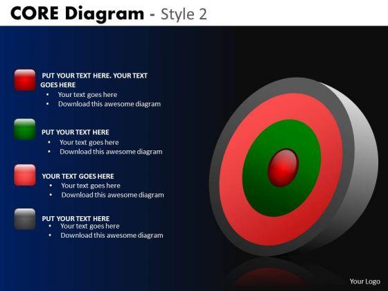 PowerPoint Layout Company Success Goals Core Diagram Ppt Slide
