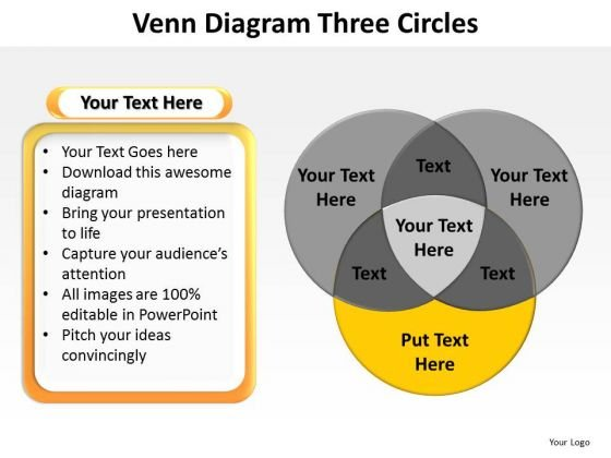 PowerPoint Layout Company Venn Diagram Ppt Theme