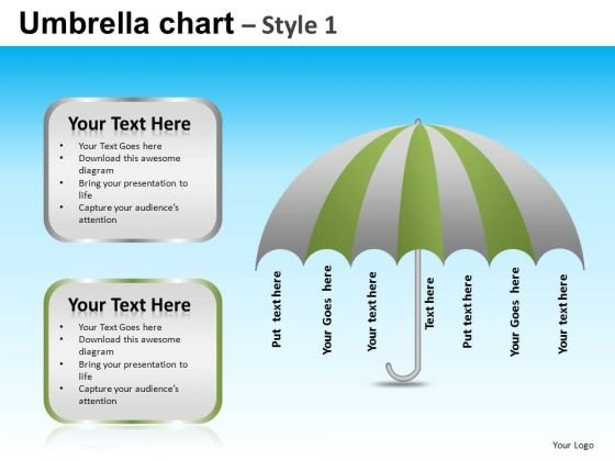 PowerPoint Layout Corporate Competition Targets Umbrella Chart Ppt Theme