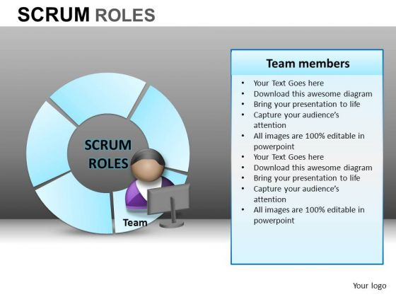 PowerPoint Layout Corporate Leadership Scrum Process Ppt Template