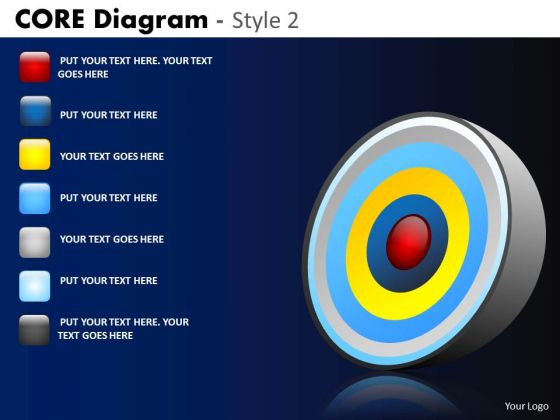 PowerPoint Layout Corporate Strategy Core Diagram Ppt Slide